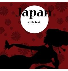 silhouette Beautiful japanese girls in kimono vector image vector image