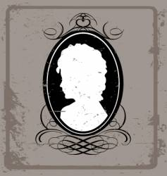 vintage cameo brooch vector image vector image
