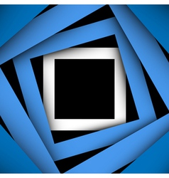 Blue paper square and frame background vector image vector image