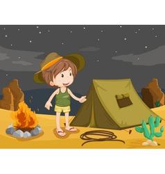 camper vector image vector image