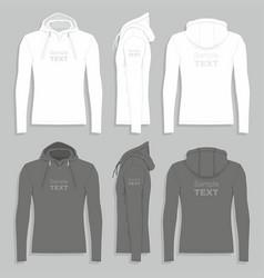 mens hoodie design template vector image