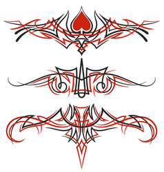 pinstriping ornaments set vector image
