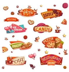 set of brightly banners for market shop vector image vector image