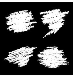 Set of White Hand Drawn Grunge Elements vector image