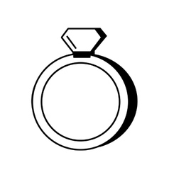 wedding rings isolated icon vector image