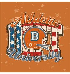 American football university athletic department vector image