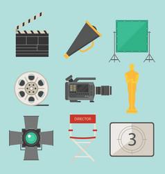 cinema movie making tv show tools equipment vector image vector image
