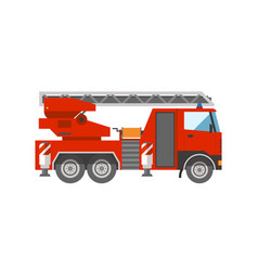 Firetruck emergency vehicle rescue ladder vector