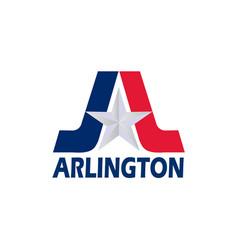 flag of arlington of texas usa vector image