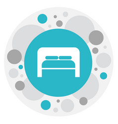 Of travel symbol on bedroom vector