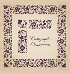 ornamental corners borders and frames vector image vector image