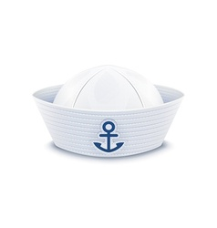 Sailor cap vector image