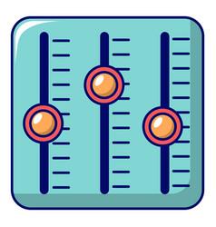 sound mixer control icon cartoon style vector image