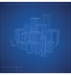 City blueprint vector image