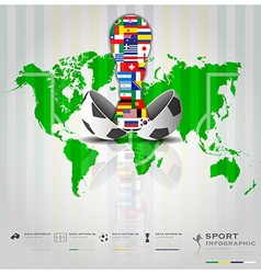 Football tournament sport infographic background vector
