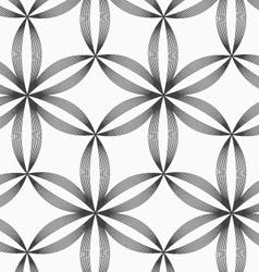 Monochrome slim gray striped six pedal flowers vector image