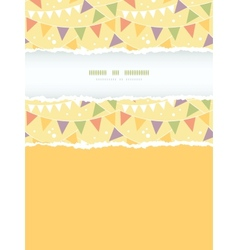 Party Decorations Bunting Vertical Torn Frame vector image