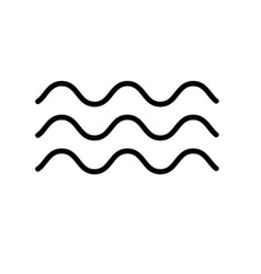 wave icon in trendy flat style isolated on white vector image vector image