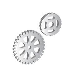 3d of gears cogwheels or cogs vector