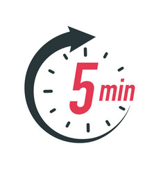 5 minutes timer symbol color style vector
