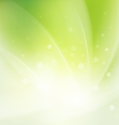 Abstract smooth fresh green flow background vector