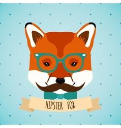 Animal hipster portrait vector image