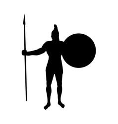 Ares god war silhouette ancient mythology fantasy vector