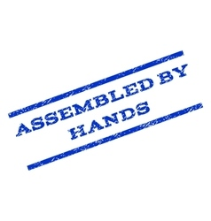 Assembled By Hands Watermark Stamp vector