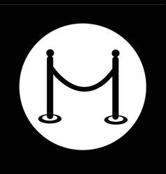 barricade icon design vector image