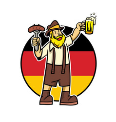 beard man celebrate oktoberfest vector image