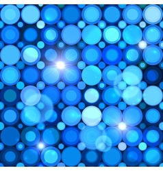 Blue abstract shining dots seamless pattern vector