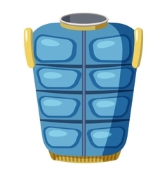 Blue warm vest icon cartoon style vector