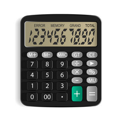 calculator isolated object white background vector image