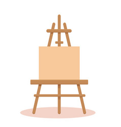 canvas with easel vector image
