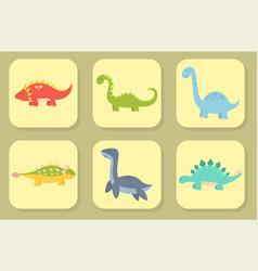 Cartoon dinosaurs monster vector