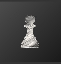 charcoal chess pawn vector image