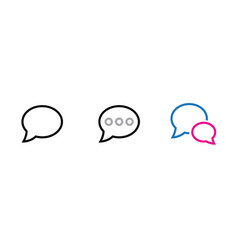 chat and nessage icon editable outline vector image