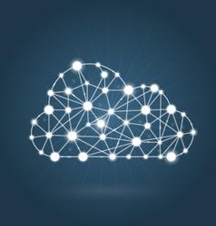 Cloud computing concept - internet communication vector image