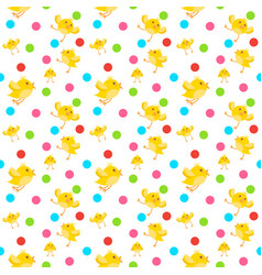 cute easter ornament seamless pattern with yellow vector image
