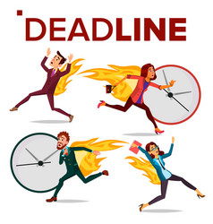 Deadline concept set office people vector