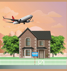 detached residential house for sale vector image