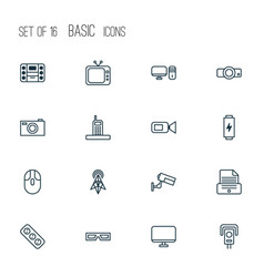 Device icons set collection of wireless router vector