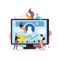 digital marketing concept for web banner vector image