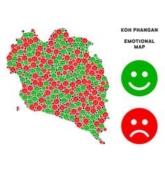 Emotion koh phangan thai island map mosaic vector
