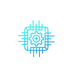 framework icon line design vector image