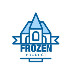 Frozen product abstract label for freezing vector