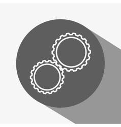 gear over circle design vector image