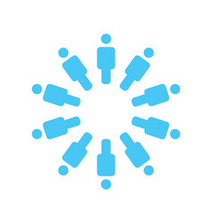 group of people standing around in the circle vector image