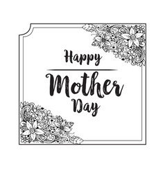 Happy mother day holiday background vector