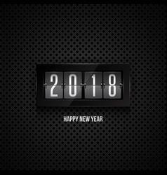 happy new year 2018 flip clock vector image